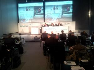 The Siemens press conference in session