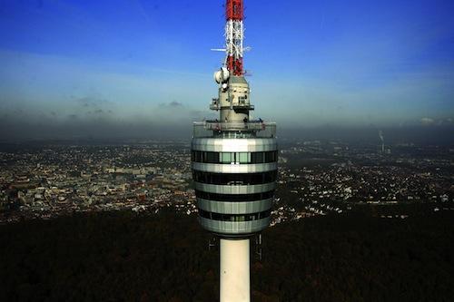 Stuttgart's famous Fernsehturm over looks the city!
