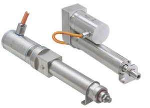 New electrical linear actuators increase design freedom for hygienic machinery.